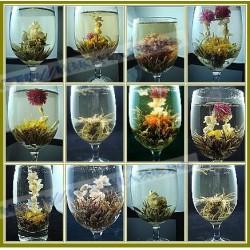 Fragrant, blooming tea handmade (16 species - 16 balls)