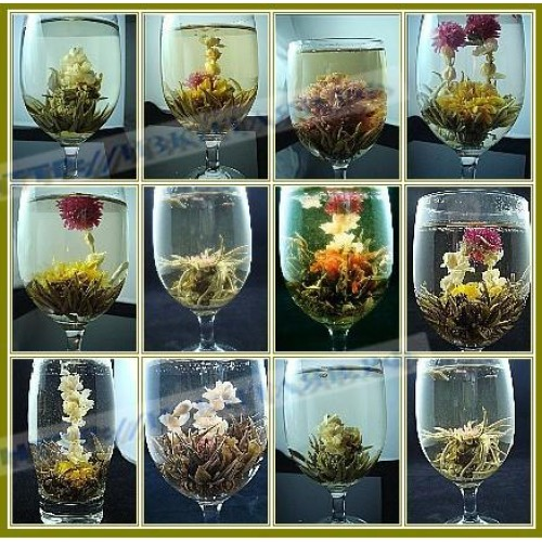 Fragrant, blooming tea handmade (16 species - 16 balls)